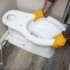 set the toilet bowl