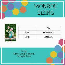 Monroe Size Chart Monroe Sizing Www Facebook Com Groups