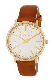 michael michael korswomen s jaryn leather strap watch set