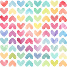 Heart Pattern Fascinating Seamless Colorful Watercolor Painted Hearts Pattern Valentine's