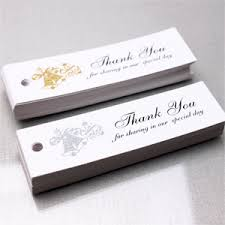 thank you tags for wedding favors wedding bells thank you hang tags 50 pcs rectangle hang tags and
