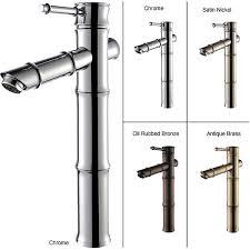 kraus bamboo style vessel sink bathroom faucet