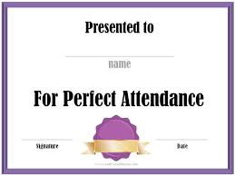 free perfect attendance certificate free printable perfect attendance certificate template vastuuonminun