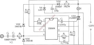 ss0604 based touch sensitive step dimmer circuit