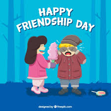nice happy friendship day background free vector