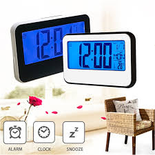 digital battery alarm clock with lcd display backlight calendar