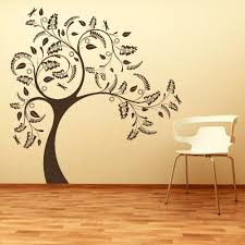 Wall Tree Stencil Designs Large Tree Giant Wall Sticker Huge Removable Vinyl Uk Decal