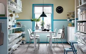 ikea for office. A Blue And White Back-office With The MELLTORP Table Two LEIFARNE Chairs Ikea For Office E