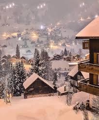 Switzerland village covered in snow. On the bucket list ...