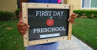 free printable first day of preschool sign editable