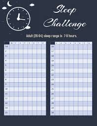 Sleep Challenge 30 Day Template Postermywall