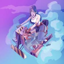 bike bike байк арт мотоциклы девушки компьютерная графика рисунок мультфильм
