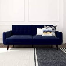 Amazon.com: Better Homes & Gardens Nola Sofa Bed (Blue Velvet ...