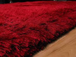 plush red gy rug