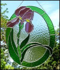 stained glass suncatcher fl iris