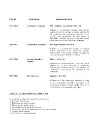 Site Manager Resume Construction Resume Sample Construction Worker