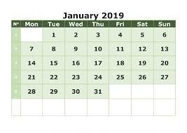calendarsthatwork com free printable calendar january 2019 calendar free download