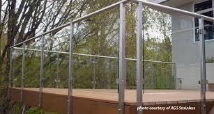 glass railing system on beautiful deck