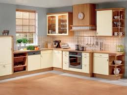 Two Tone Kitchen Cabinets Brown And White Picture