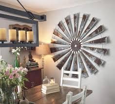 huge 60 inch metal windmill wall decor