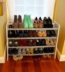 diy shoe rack for closet design diy shelves