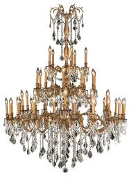 antique 45 light french gold crystal 4 tier chandelier clear