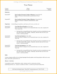 9 College Grad Resume Template Fabulous Florida Keys