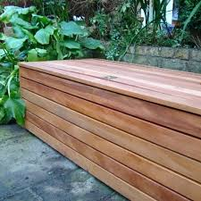 full image for plastic garden storage bench seat storage unit on inside of low wall on