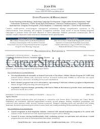 marketingevent planning intern resume samples event planning event coordinator resume sample