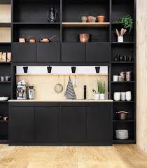 Kitchen Bookcase Contemporary Kitchen 36 Stunning Black Kitchens Design