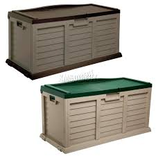 sentinel starplast outdoor garden storage utility chest cushion box case 440l sit on lid