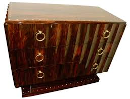art moderne furniture. ruhlmann style macassar art deco cabinet with drawers moderne furniture