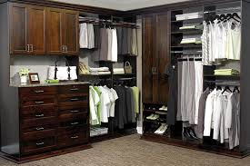 walk in closet organization system in cocoa laminate finish