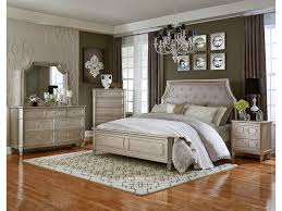 Standard Furniture Windsor Silver Upholstered Queen Bed With Cove - American standard bedroom furniture