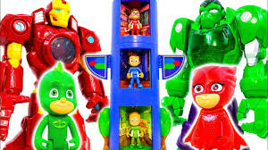 <b>Robot</b> Avengers, Hulk, <b>Iron</b> Man And PJ Masks Defeat <b>Dinosaurs</b> ...