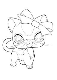 Littlest Pet Shop Cat Coloring Pagesl