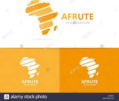 Vector Africa Logo Combination Safari Symbol Or Icon Unique Stock