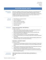 Volunteer Work Resume Samples Haadyaooverbayresort Com
