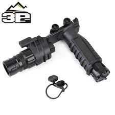 Vertical Foregrip With Light Airsoft Tactical Flashlight M910v Vertical Foregrip Weapon Light White Light And Strobe Rotary Switch Ne03004