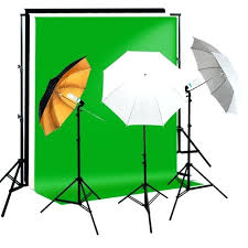 reflective soft umbrella complete photography lighting kits background support black white backdrop stand and photo
