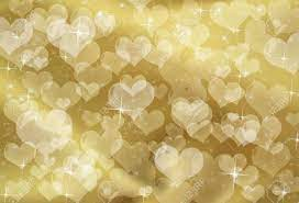 Gold Hearts On A Gold Sparkle ...
