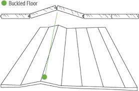 buckled wood floor repair and causes