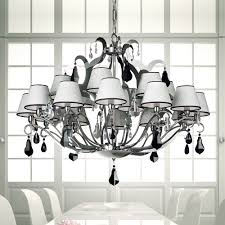 contemporary black and white chrome chandelier