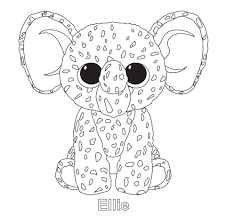 Beanie Babies Coloring Sheets Luxury Print Me Corky Ty Beanie Boo