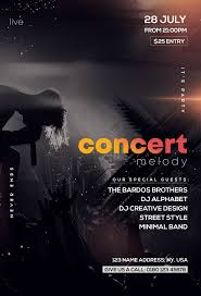 Concert Flyer Templates Free Free Concert Melody Psd Flyer Template Free Psd Flyer
