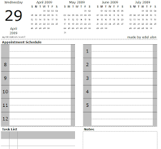 Daily Picture Calendar Excel Daily Calendar With Tasks And Notes Edel Alon