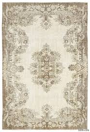beige over dyed turkish vintage rug 5 11 x 8 10 71 in x 106 in