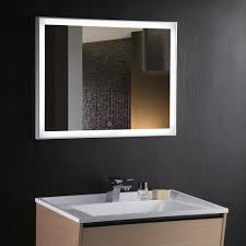 Demister Bathroom Mirrors Kudos 90 Backlit Mirror With Demister And Touch Switch By Arcisan