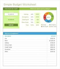 How To Make A Monthly Budget On Excel Household Budget Worksheet Excel Template Monthly Budget Template