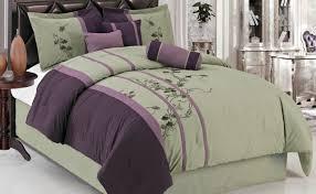 purple green bedding set fl pattern plus
